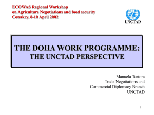 THE DOHA WORK PROGRAMME: THE UNCTAD PERSPECTIVE Manuela Tortora Trade Negotiations and