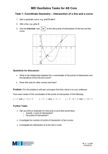 MEI GeoGebra Tasks for AS Core Task 1: Coordinate Geometry