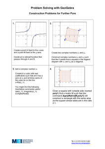Problem Solving with GeoGebra Construction Problems for Further Pure  1.