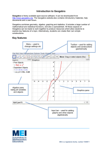 Introduction to Geogebra