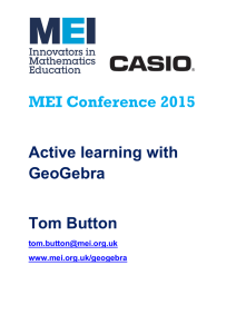 MEI Conference  Active learning with GeoGebra