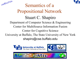 Semantics of a Propositional Network Stuart C. Shapiro