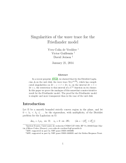 Singularities of the wave trace for the Friedlander model ere