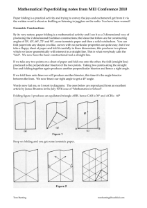 Mathematical Paperfolding notes from MEI Conference 2010