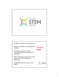 The M in STEM