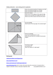 Folding mathematics – some starting points for exploration