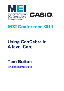 MEI Conference Using GeoGebra in A level Core