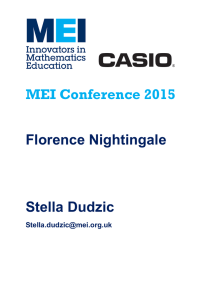 MEI Conference  Florence Nightingale Stella Dudzic
