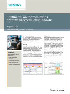 Continuous online monitoring prevents unscheduled shutdowns Diagnostic Suite Instrumentation, Controls & Electrical