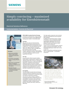 Simply convincing – maximized availability for Eisenhüttenstadt Electrical Solutions Reference