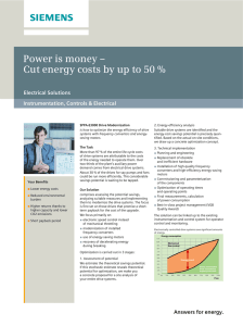 Power is money – Electrical Solutions Instrumentation, Controls & Electrical