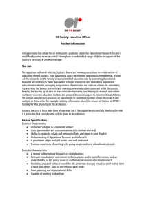 OR Society Education Officer Further information
