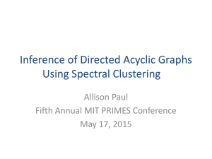 Inference of Directed Acyclic Graphs Using Spectral Clustering Allison Paul