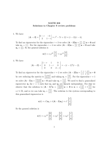 MATH 308 Solutions to Chapter 9 review problems 1. We have