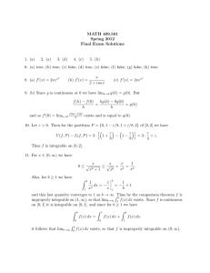 MATH 409.501 Spring 2012 Final Exam Solutions 1. (a)