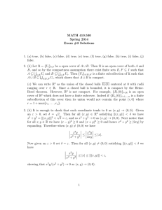 MATH 410.500 Spring 2014 Exam #2 Solutions