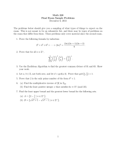 Math 220 Final Exam Sample Problems December 6, 2013