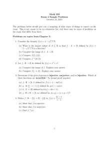 Math 220 Exam 2 Sample Problems October 22, 2013