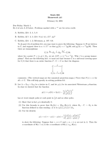 Math 662 Homework #1 February 24, 2005 Due Friday, March 4.