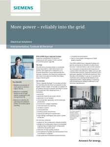 More power – reliably into the grid Electrical Solutions