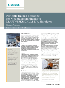 Perfectly trained personnel for Niederaussem thanks to KRAFTWERKSSCHULE E.V. Simulator