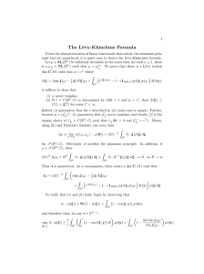 The L´ evy-Khinchine Formula