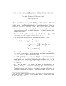 Note on decomposing functions into partner functions February 22, 2016