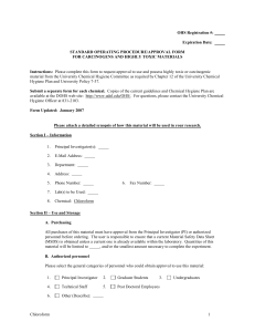 OHS Registration #:  Expiration Date: STANDARD OPERATING PROCEDURE/APPROVAL FORM