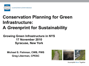 Conservation Planning for Green Infrastructure: Green Growing Green Infrastructure in NYS