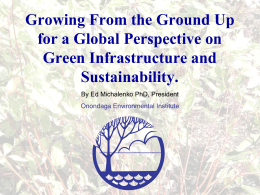 Growing From the Ground Up for a Global Perspective on Sustainability.