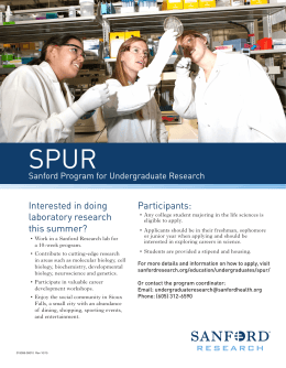 SPUR  Interested in doing Participants: