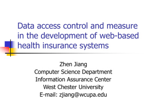 Data access control and measure in the development of web-based