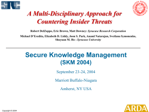 A Multi-Disciplinary Approach for Countering Insider Threats