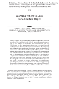Chukoskie,L.; Snider, J.; Mozer, M. C.; Krauzlis, R. J.; Sejnowski,... where to look for a hidden target, In: In the...
