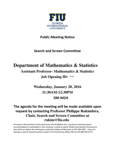 Department of Mathematics & Statistics