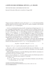 A NOTE ON SELF-EXTREMAL SETS IN L SPACES (