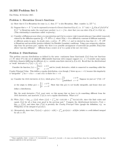 18.303 Problem Set 5 Problem 1: Hermitian Green's functions