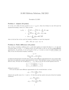 18.303 Midterm Solutions, Fall 2015 November 12, 2015