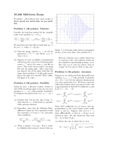 18.336 Mid-term Exam Problem 1 (30 points): Velocity