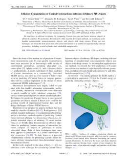 Efficient Computation of Casimir Interactions between Arbitrary 3D Objects Jacob White,