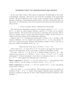 INTRODUCTION TO DIOPHANTINE EQUATIONS
