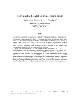 Approximating bounded occurrence ordering CSPs V G Y