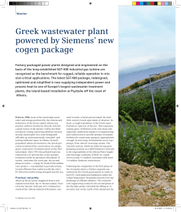 Greek wastewater plant powered by Siemens' new cogen package