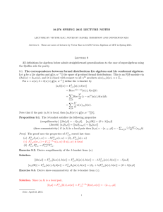 18.276 SPRING 2015 LECTURE NOTES