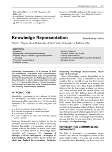 Knowledge Representation 671 Philosophy of Mind', pp. 81±108. Atascadero, CA: