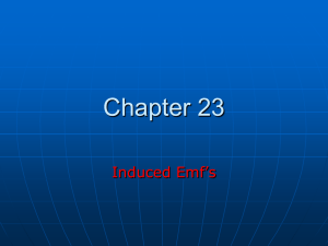 Chapter 23 Induced Emf's