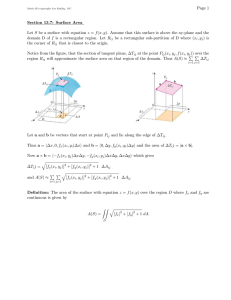 Page 1 Section 13.7: Surface Area