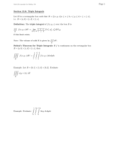 Page 1 Section 13.8: Triple Integrals
