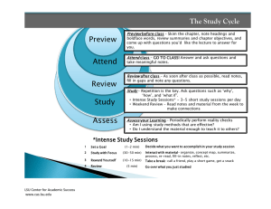 The Study Cycle Preview 4 Reflec