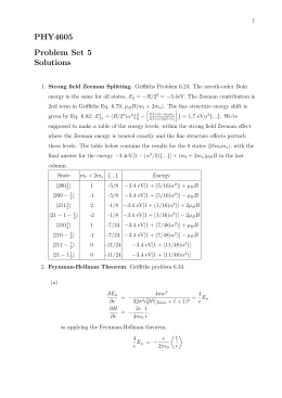 PHY4605 Problem Set 5 Solutions